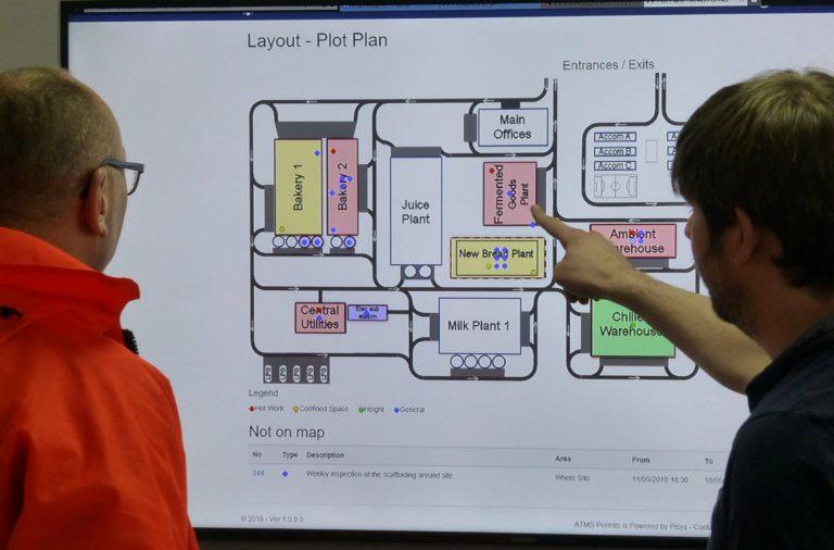 Permit to Work Plot plan